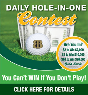 Graphic promoting Bardmoor Golf & Tennis Club Daily Hole-in-One contest