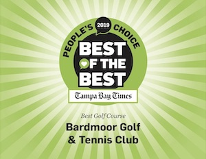 Bardmoor Voted 2019 Tampa Bay Times People's Choice Best of the Best Golf Course in Tampa Bay