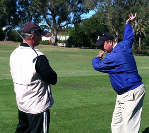 Jim King PGA, Director of Golf Instruction, teaching a lesson